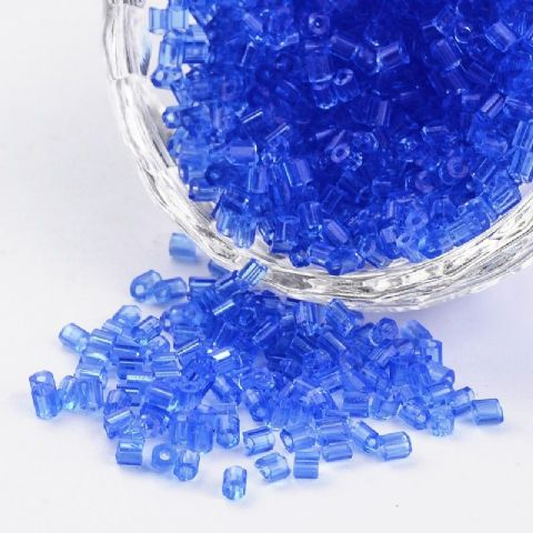 Seed Beads Two-Cut - 8/0 - Blue - 50g